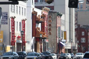 Restaurants in Chinatown (one of the streets)