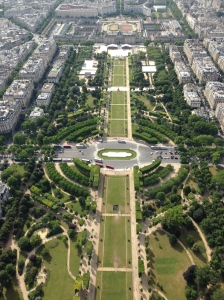 Oh, the view from the Eiffel Tower... lovely.