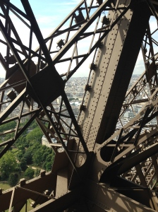 Up close and personal with the Eiffel Tower